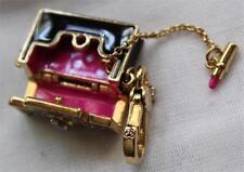 NWT Juicy Couture Black HANDBAG Purse CHARM OpeNS UP! LIPSTICK on CHAIN Bracelet