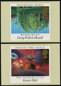Great Britain PHQ 83a-d PHQ Cards- EUROPA, Music, Composers