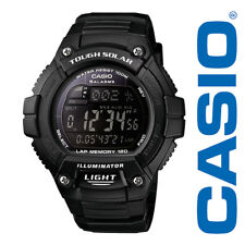 New Casio Men's W-S220-1BVCF Tough Solar Running Watch with Black Resin Band