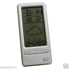 Wireless Digital Alarm Clock Weather Station with Humidity & Temperature