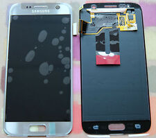 GENUINE SILVER SAMSUNG SM-G930F GALAXY S7 SCREEN AMOLED 2k LCD DISPLAY NoAdhesiv