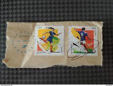 Lot 2 timbres Euro 2016 Technique geste de Football Aile Pigeon et Frappe Soccer
