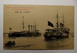 POSTAL de GIJON del año 1919.EXTRAORDINARIO ESTADO.
