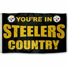 PITTSBURGH STEELERS COUNTRY 3x5ft flag superior quality GENUINE NFL Lic us