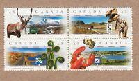 SCENIC HWYs = YUKON, ALBERTA, NB, PEI = Bl of 4 Canada 1998 #1739-42 (1742a) MNH