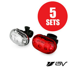 BV Bike Front Head & Tail Flash light, Bicycle LED Rear Lights(SET OF 5)