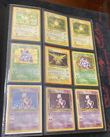 Vintage Pokemon Collection Binder - 200+ Cards - Many Holos + 1st Editions