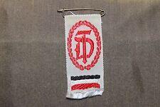 WW2 German National Gymnastics Assoc Ribbon w/National Colors & Pin, Ges. Gesch.