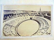 OLD ALBUMEN/CABINET CARD: NIMES~VUE INTERIEURE DES ARÈNES~ca 1875