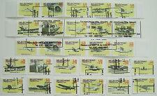 Stadspost Utrecht 2001 - Serie van 27 zegels Vliegtuigen, Airplanes gestempeld