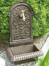 Wandbrunnen 62cm hoch 14kg Gusseisen Gartenbrunnen Ausgußbecken Schlauchanschluß