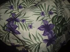 AMBIENCE TROPICAL GREEN PURPLE FLOWERS LEAVES FLORAL (2PC) STANDARD PILLOW SHAMS