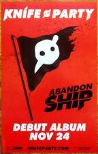 KNIFE PARTY Abandon Ship Ltd Ed RARE Poster +FREE EDM/Dance/Rock Poster PENDULUM