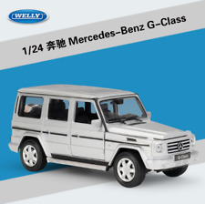 1:24 Welly Mercedes Benz G-Class G55 G500 Diecast Metal Model SUV Car Silver