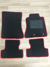 Car Floor Mats Custom Made Front & Rear w/Red Edging - Ford Mustang: 2015-ON