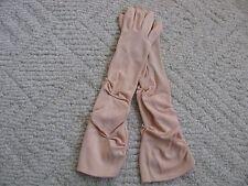 Vintage Women'S Hansen Beige Nylasuede Mid-Arm Dress Gloves Size 6