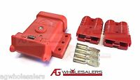 RED ANDERSON PLUG MOUNTING KIT 50A WITH 2 PLUGS MOUNT COVER DUST CAP EXTERNAL