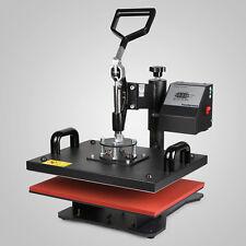 "5 In 1 Digital Heat Press Machine Transfer Sublimation T-Shirt Mug Hat 15x12"""