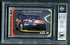 Robert Yates #30 signed autograph auto 1991 MAXX Nascar Trading Card BAS Slab