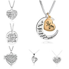 Valentine's Gift Necklace Best Mum Love You Forever Mother Daughter World
