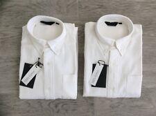 2 X RAGAZZI GIANNI VIALLI spessa camicie bianche SCUOLA Chino Taglia M ragazzi età 10-11 anni