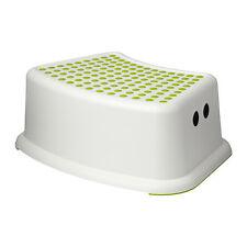 ANTI SLIP IKEA FÖRSIKTIG Children's stool, white, green
