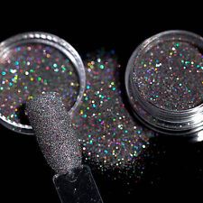 1G Holographic Glitter Powder Dust Nail Art Black Holo Laser Shining DIY Tips