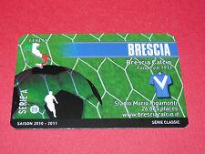RARE FOOTBALL CARD FOOT2PASS 2010-2011 BRESCIA CALCIO SERIE A