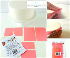 FLEXI CAKE SMOOTHER SET 6 PIECE PINK for sharp edges and a perfect finish