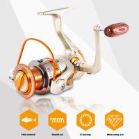 Metal Spinning Fishing Reel EF500-EF9000 12BB Spool Folding Arm Left Right 5.2:1