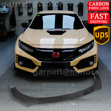 Carbon Fiber For Honda Civic 9th 10th Hatchback 10 21 Type R Front Bumper Lip Fits 2013 Honda Civic Si