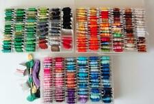 Estate Lot 300 Cards-Bobbins DMC Embroidery Floss in Organize -Cases