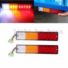 2x LED TAIL LIGHTS BOAT UTE CARAVAN TRUCK TRAILER STOP REVERSE INDICATOR 12V 24V