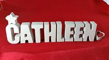 Beton, Steinguss Buchstaben 3D Deko Namen CATHLEEN als Geschenk verpackt!