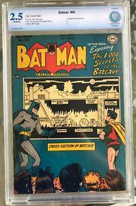 Batman #48 (1948) CBCS 2.5 -- Secrets of the Batcave; Penguin appearance CGC