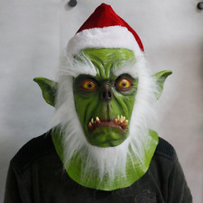 Santa Claus Christmas Mask Latex Adults Fancy Dress Theme Costume Party