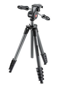 Manfrotto Treppiedi MKCOMPACTADV-BK  Cavalletto Compact Advanced nero con Testa