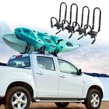 4x Universal Heavy Duty Shape Bars Canoe Kayak Carrier Car Roof Rack With Straps
