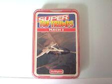 Vintage Waddingtons Super Top Trumps MACH 3. [complete pack]