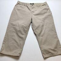Lauren Ralph Lauren Tan Crop Capri Pants Size 16 A949