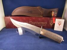 "Muela 14"" Stag Fixed Blade ""Lobo"" Knife Mint Box With Leather Sheath Lobo 23"