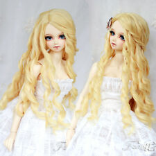 New 1/3 BJD SD Doll 22-24cm Head Noble Princes Blonde Long Curl Fur Wig Dollfie