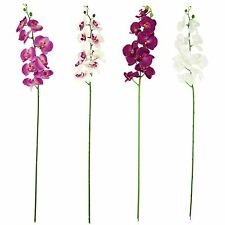 Large Water Droplet Orchid Stem - Artificial Silk Flowers Long Spray Fake