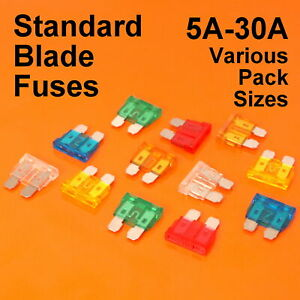 High Quality Standard Blade Fuse Fuses For Car Van Bike - 5A 10A 15A 20A 25A 30A