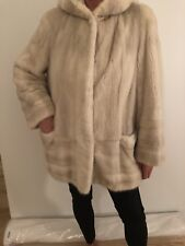 Original White Mink Fur Coat Size M-L