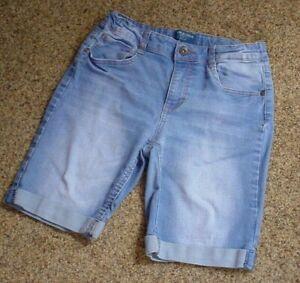 "ARIZONA - Bermuda Jeans - Size 16 Reg - GUC - Adjustable Waist - Rise 9"""