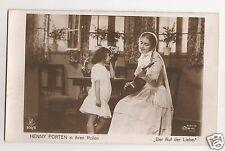 """Henny Porten vintage Film Sterne postcard """"Der Ruf der Liebe"""" postmark 1931"""
