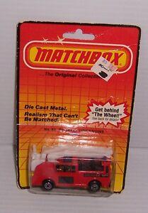 1983 MATCHBOX # 63 SNORKEL FIRE ENGINE MOC