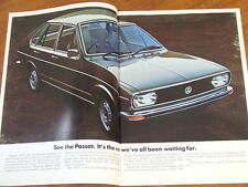1973 Volkswagen Passat 24 page brochure plus press photo