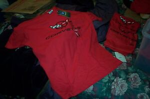 LICENSED YOUTH RED SHORTSLEEVE CORVETTE WING LOGO T-SHIRT M, L,or  XL